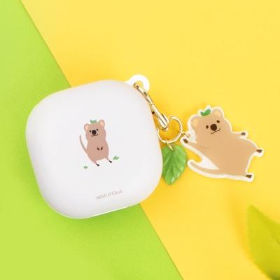 미니동물 하드 갤럭시 버즈 라이브 케이스+동물키링