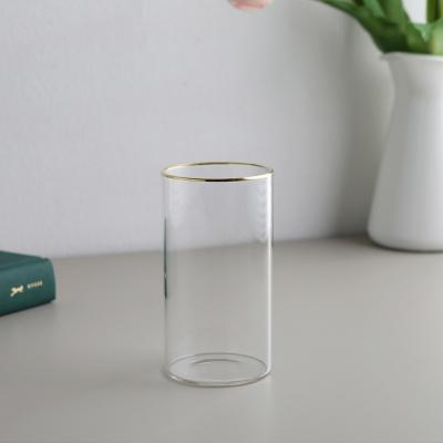내열유리 카페 유리컵 (골드) 360ml 6개입
