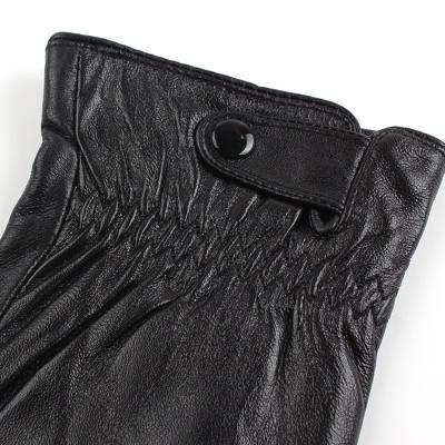 주름장식 가죽장갑(남성) / 겨울패션 방한장갑