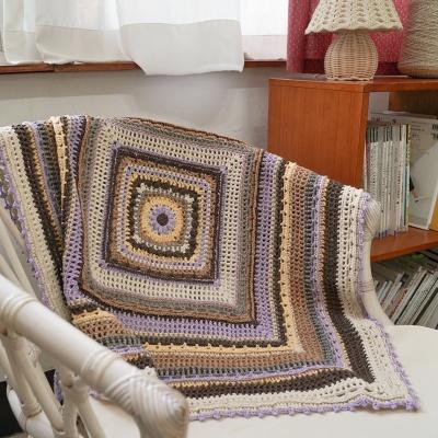 빈티지 만다라 패턴 블랭킷 - 코바늘 뜨개질 키트