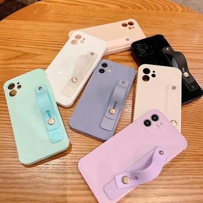 아이폰11 PRO MAX 파스텔 컬러 손잡이 스트랩 케이스