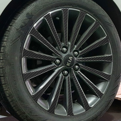 기아 K7 18인치 카본블랙 휠스티커/1세트