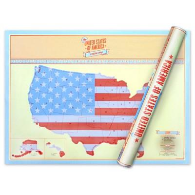[원더스토어] 럭키스 스크래치 맵 미국 Scratch Map USA
