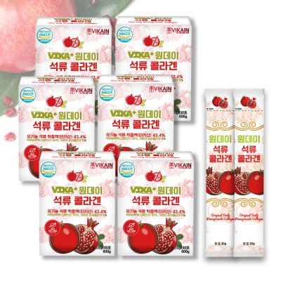 비카인 원데이 석류 콜라겐 6BOX (180포)