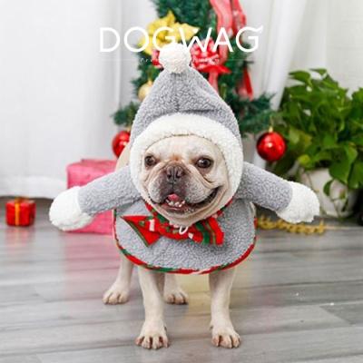크리스마스 후드 망토 강아지 코스튬