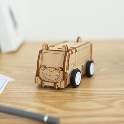 [토끼 구급차] DIY 어린이 코딩 조립 나무 장난감