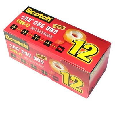 3M 스카치테이프 리필 12X30m 12개입 테이프