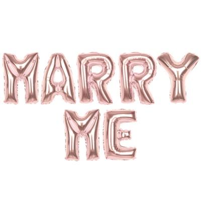 알파벳은박풍선세트 (MARRY ME) 로즈골드