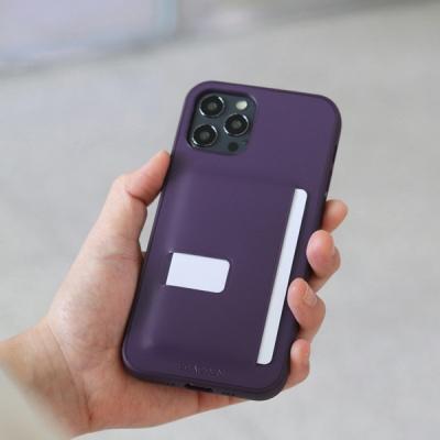 아이폰12 시리즈 슬림형 가죽 케이스 퍼플