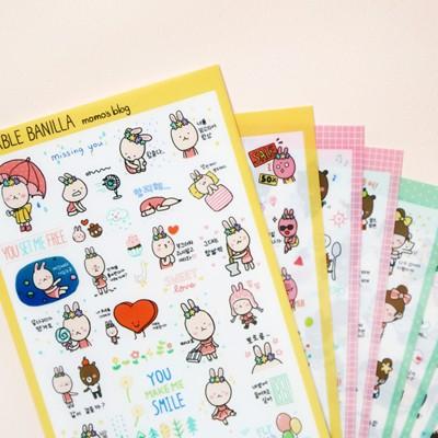 MOMOs blog 모양 데코 스티커 set