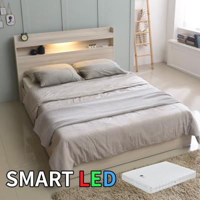 스마트 LED 침대 퀸(독립스프링매트) KC170Q