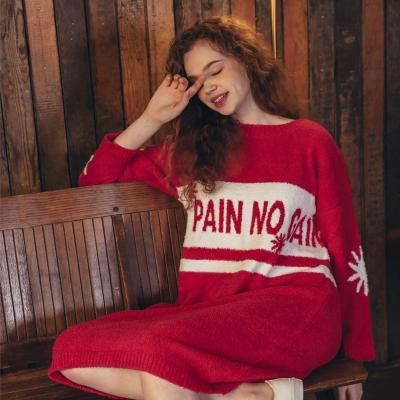 Angel 여성 쟈가드 수면잠옷 롱원피스 잠옷
