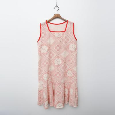 Linen Cotton Paisley Dress - 민소매