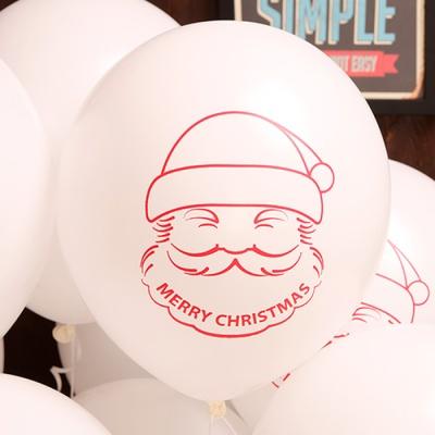 크리스마스풍선30cm - 산타(화이트)