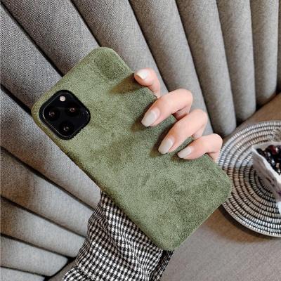 아이폰 겨울 털 보들 심플 컬러 고급 스웨이드 케이스
