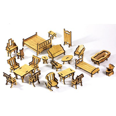 DIY나무모형 미니 가구 세트1