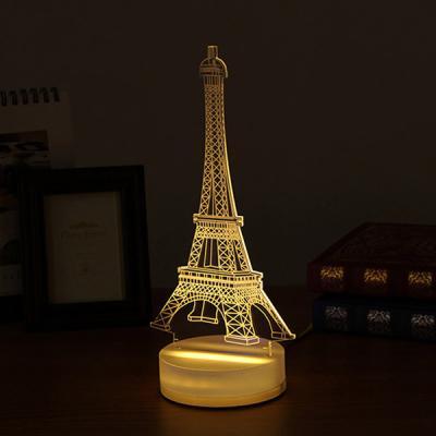 3D LED LIGHT 파리 에펠탑 3D LED 무드등 조명