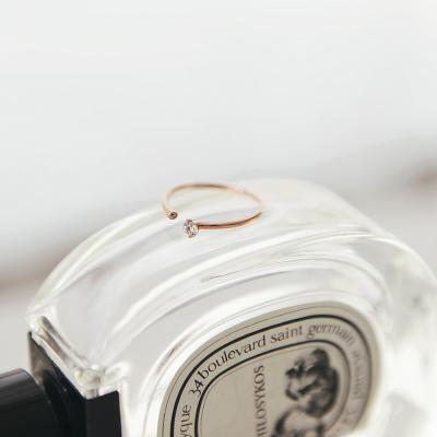 제이로렌 G0161 14K 다이아몬드 큐빅 골드반지