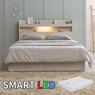 스마트 LED 침대 퀸(독립스프링매트) KC168Q