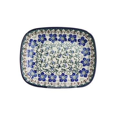 폴란드그릇 아티스티나 라운드직사각접시 소 패턴1073