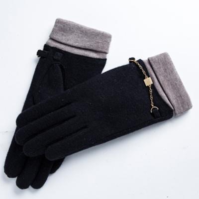 여성 니트손목 체인 스마트터치모직장갑
