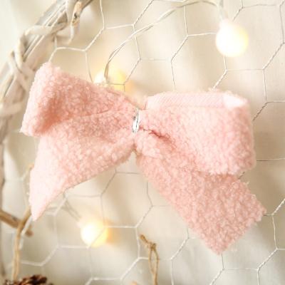 트리장식 보송이 리본 - 핑크