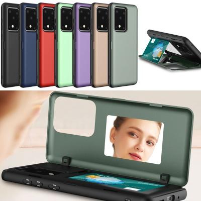갤럭시노트10/플러스 카드 홀더 거울형 핸드폰케이스