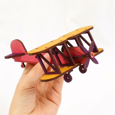 라이트형제비행기만들기 복엽기 나무비행기 UDPMA0020