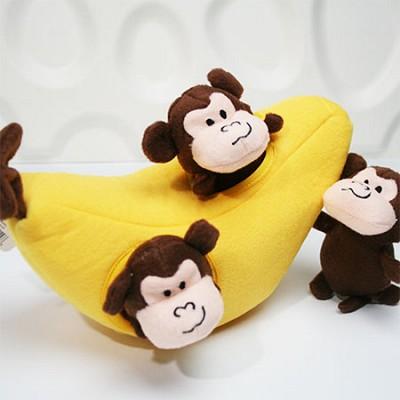 지피포우즈 숨은 몽키 찾기 간식볼&삑삑이 애견/강아지 장난감