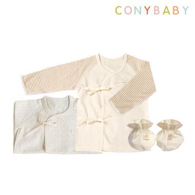 [CONY]출산3종세트(핑크배냇가운+배냇저고리+발싸개)