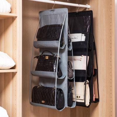 3단 더블 핸드백 가방 걸이 보관함 정리함 수납장