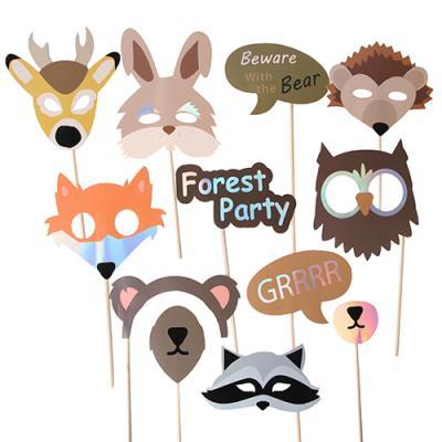 숲 속 파티에 초대된 동물들 파티 프롭스 set
