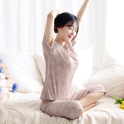 테라우드 여성용 보카시 쿨 반팔 잠옷 상하세트