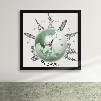 iw025-지구속의세계여행액자벽시계_디자인액자시계