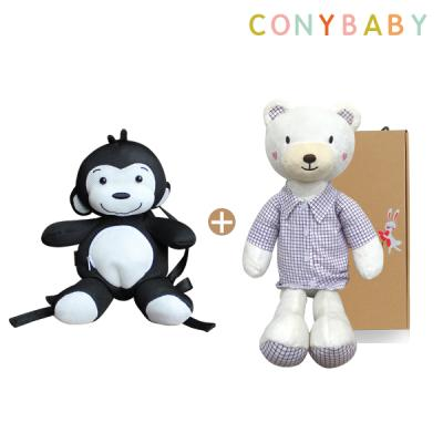 [CONY]애니멀가방&인형세트(셔츠베베60+정글메쉬가방)