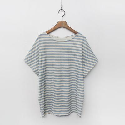 Linen Cotton Dum Stripe Tee