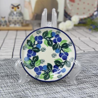 폴란드그릇 아티스티나 원형 접시 10cm 패턴1416
