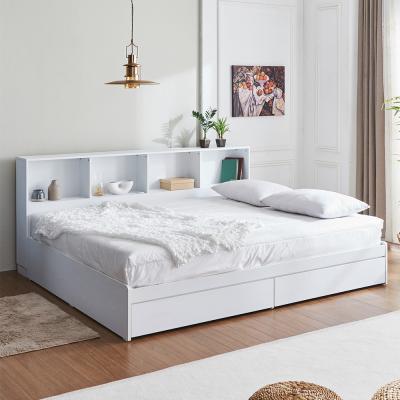 러블리 책장형 서랍형 침대 퀸+독립 매트리스 포함