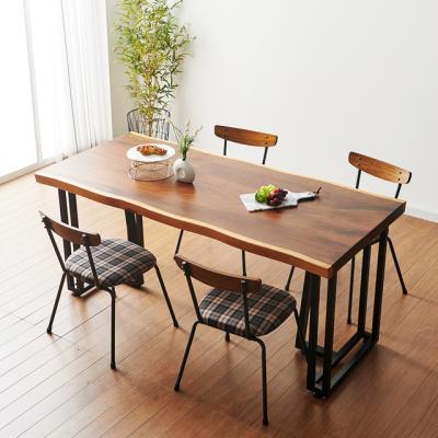 코디 1600x800 우드슬랩 식탁 4인용 테이블