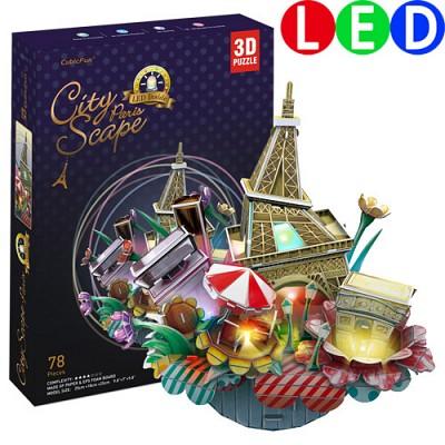 [3D퍼즐마을][OC3214L] 시티스케이프-파리, LED (City Scape-Paris)