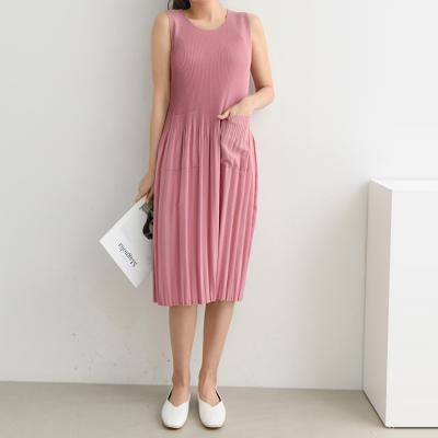 Pleats Ari Dress - 민소매