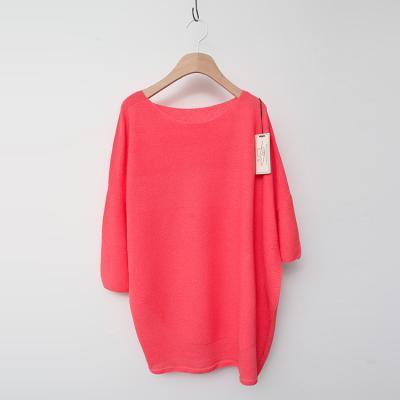 Maille Linen Round Unbal Sweater