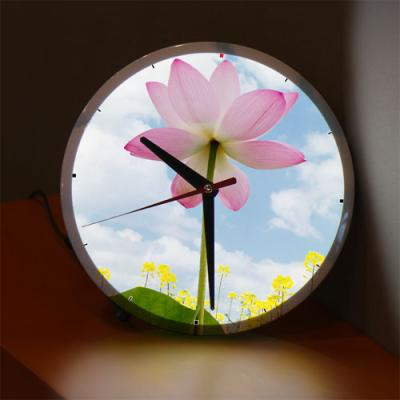 ng513-LED시계액자25R_연꽃과맑은하늘