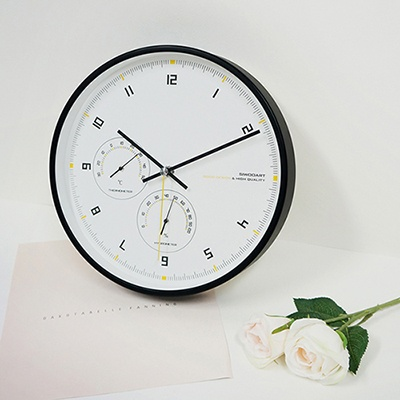 퓨어무소음온습도벽시계