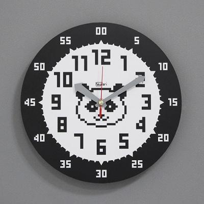 (kdrz136)저소음 교육용시계(도트 팬더)