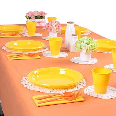 파티테이블셋팅패키지(10인용)-오렌지&옐로우