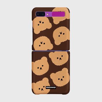 Dot big bear-brown(Z플립-하드)