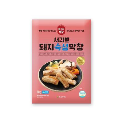서라벌푸드 숙성 돼지막창 1kg 국내산 + 막창장120g