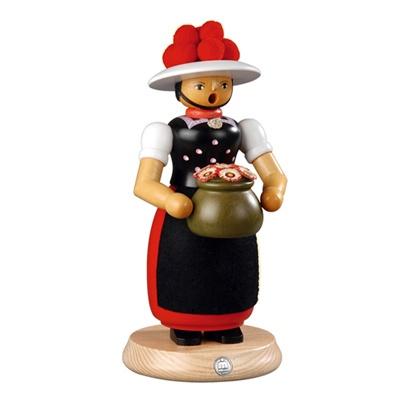 스모킹맨- 꽃병을 든 여인 ,25cm 16641