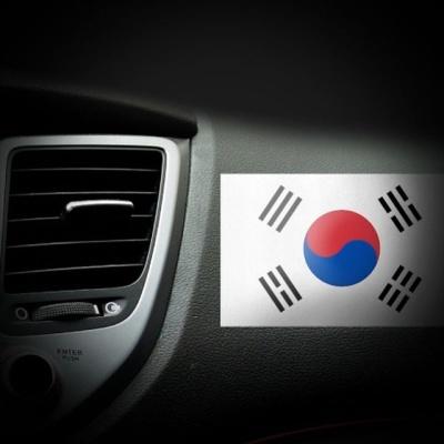 차량용 튜닝용품 태극기 스티커 2P